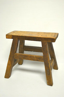 Asian Chinese Traditional  Solid Natural Wood Seat Sitting Stool .stand A-02
