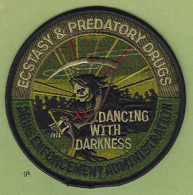 Dea Ecstasy Ecstacy  Predatory Drugs Police Drug Enforcement Subdued Green Patch