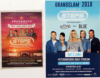 SUMMER OF STEPS JUNE 2018 TOUR FLYER & LONDON JULY 5th 2018 CONCERT ADVERT