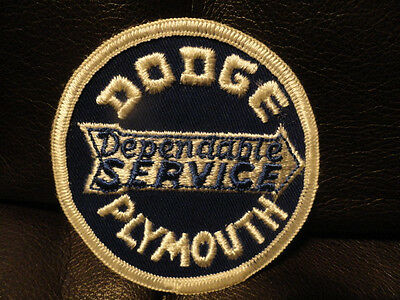 Dodge, Plymouth Service Patch - Vintage - New - Original - Auto - 3 1/4 inches