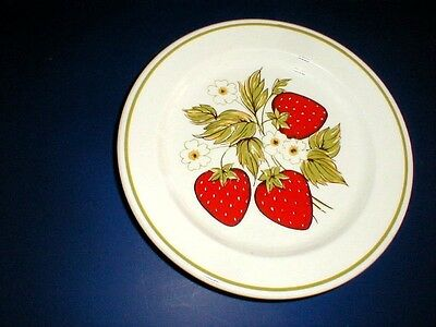 Anchor Hocking USA  BERRY PATCH Red Strawberry Salad Plate/s (loc-5X)