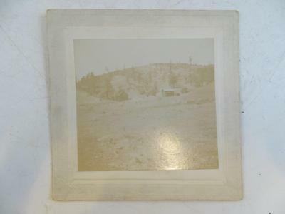 Antique Cabinet Photograph Belle View Ranch Fairmont CA Vintage 1800s Cabin Old