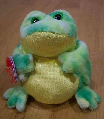 TY Beanie Babies 2.0 JUMPS THE FROG Soft Stuffed Animal NEW