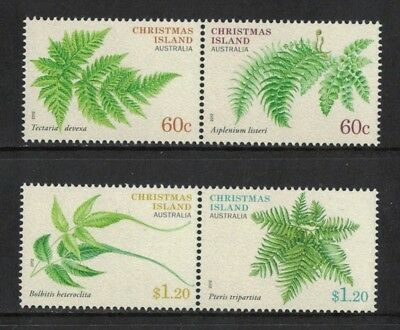 2012 Christmas Island Ferns SG 724/7 muh set 4