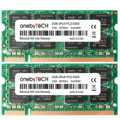 4GB 2x2GB PC2-5300S DDR2 667 200p Sodimm Memory For Acer Aspire 5920 5920G