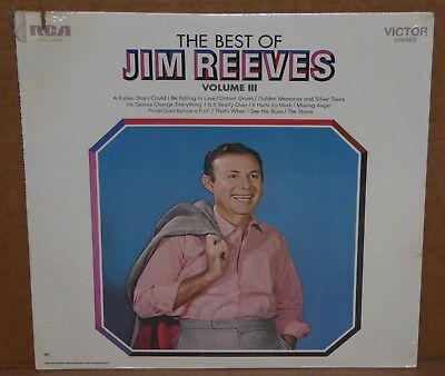 The Best Of Jim Reeves Volume III 3 SEALED LP vinyl record NEW cut out