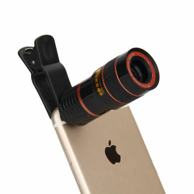 Universal 8X Zoom Clip On Cell Phones Optical camera Lens Telephoto Telescope
