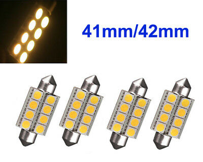4x 12V Sofitte 42mm 8 Power 5050 CHIP SMD LED Warm Weiß Soffitte Deutsche Post