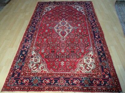 "PERSIAN CARPET RUG HAND MADE Antique in WOOL traditional oriental 7ft 4"" x 4ft 8"