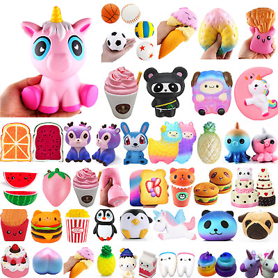 Jumbo Slow Rising Squishies Scented Squishy Squeeze Stress Relieve Toys Lot