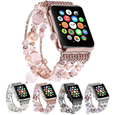 For Apple Watch iWatch Bling Agate Beads Strap Bracelet Band 3/2/1 42mm/38mm US