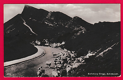 Unposted card. Salisbury Crags, Edinburgh, Scotland
