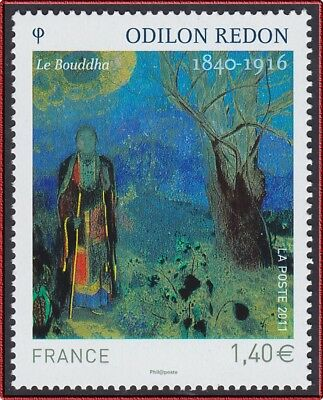 2011 FRANCE N°4542** TABLEAU, Odilon REDON, Le Bouddha, FRANCE 2011 Painting MNH