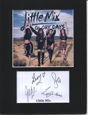 Little mix Glory Days signed printed autograph mounted photo 8x6 display gift