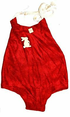 VTG Baby Sun Suit Romper 30s Dead Stock Bunny or Airplane Red Blue Yellow Infant