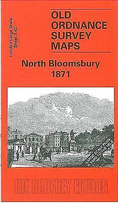 OLD ORDNANCE SURVEY MAP North Bloomsbury 1871: London Large Scale 07.43
