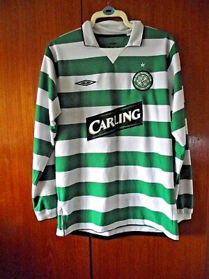 Celtic Football Shirt Umbro Home Shirt 2004/5 rare long sleeves size L 42/44