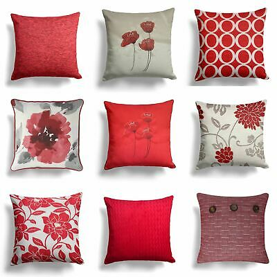 "Red Wine Natural Cream Cushion Covers 17""/18"" (43cm/45cm) Cover Collection"