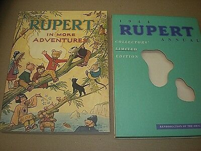 RUPERT IN MORE ADVENTURES. ANNUAL 1944. LTD EDITION FACSIMILE. SLIPCASE. No 3912