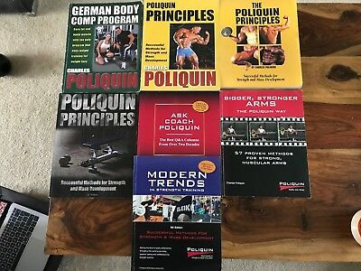 7 Charles Poliquin Strength & Conditioning Book Collection - Bargain/ Rare Books