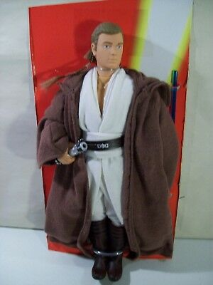 "Nwob Star Wars Episode I Obi Wan Kenobi 12"" Action Figure 1999 Hasbro Lightsaber"