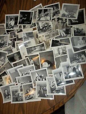 LOT OF 50+ VINTAGE BLACK & WHITE FAMILY PHOTOS 1950's era mostly adults  #3
