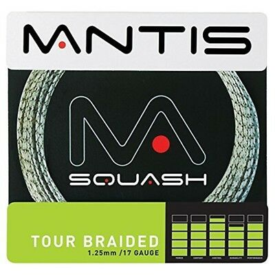 Mantis Tour Geflochten Squash String Set - Braided 17 125mm Gauge 10m White