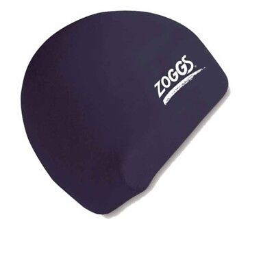 Zoggs Adult Silicone Swimming Cap With Embossed Non-slip Inner Surface, Black,