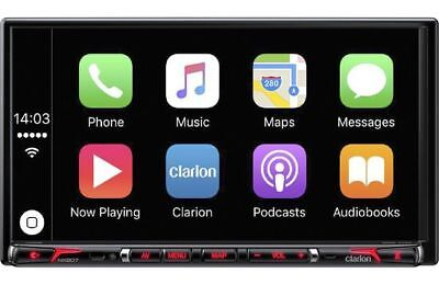 """CLARION 6.95"""" Touchscreen Double DIN Apple CarPlay Bluetooth Car Stereo   NX807"""