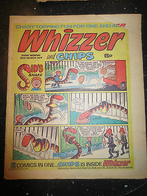 Whizzer and Chips Vintage Old UK Paper COMIC 20 March 1976 Birthday Gift