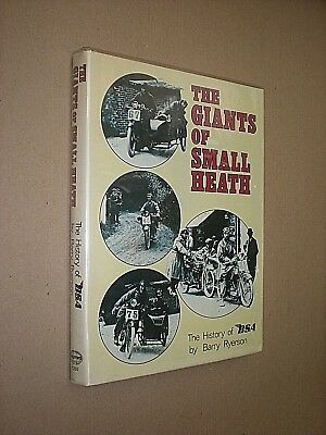 GIANTS OF SMALL HEATH. HISTORY OF BSA MOTORCYCLES. BARRY RYERSON. 1980 1st ED HB