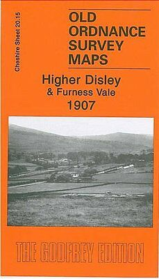 Map Of Higher Disley & Furness Vale 1907