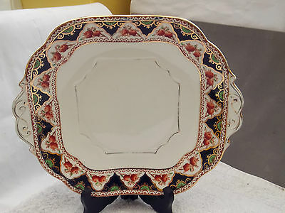 1930 - 41 Stanley China [Amison] Square Twin-Handled Bread / Cake Plate