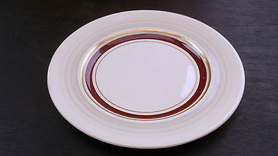 Pre 1961 Grays Pottery Side Plate  Red Band Grey To Edge