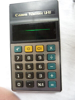 Calculator CANON Palmtronic LD-81  EXCELLENT  .. B14