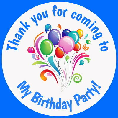 PERSONALISED CELEBRATION BIRTHDAYGLOSS THANK YOU SWEET CONE PARTY BAG STICKERS