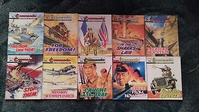 10 X Commando War Stories In Pictures,war Comics,bulk Lot Collection,7