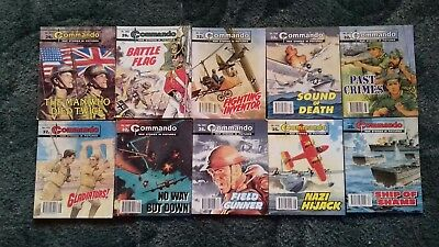 10 X Commando War Stories In Pictures,war Comics,bulk Lot Collection,6