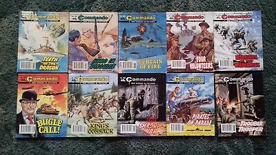 10 X Commando War Stories In Pictures,war Comics,bulk Lot Collection,5