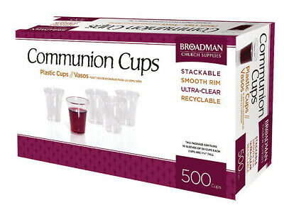 B&H Plastic Communion Cups, 500 Broadman Church Supplies