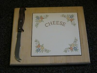 Bhs Country Garland Tiled Cheese Board Vgc