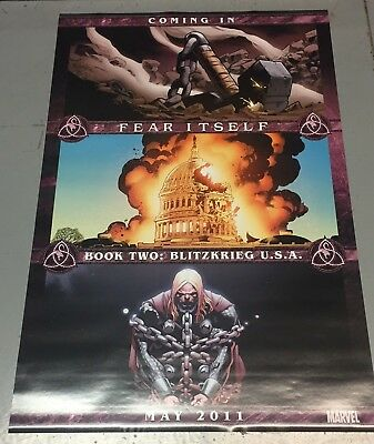 RARE 2011 Fear Itself PROMO POSTER ~ Avengers 24 x 36 inches D/S Marvel Comics