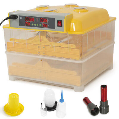 Automatic 96 Egg Incubator Digital Temp Control Poultry Hatcher Auto Egg Turner