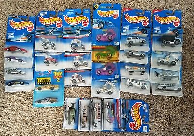 Mattel Hot Wheels NEW & SEALED 1/64 Diecast MIXED 1990's Lot of 59 Vehicles!