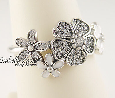 e70be9b27 SHIMMERING BOUQUET Authentic PANDORA Floral Ring 190984CZ PICK Sz &  Packaging