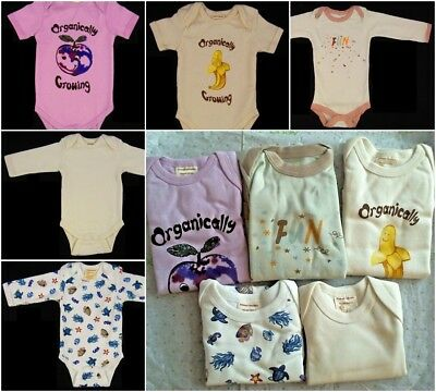 Lot Of 5 EcoBaby Cotton Long And Short Sleeve One Piece 3-6 Months