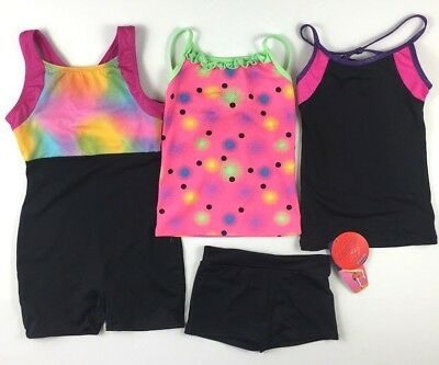 FreeStyle Danskin 6 7  Girls Gymnastics Dance Ballet Leotard Shorts Tank Top Lot