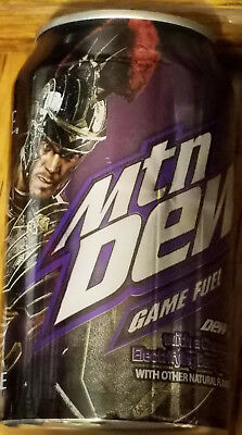 ONE Mountain Dew GAME FUEL Electrifying Berry FULL Can 2013 RYSE Son of RomeXBOX