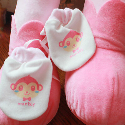 Infant Baby Print Gloves Protection Face Anti Scratching 0-3Month Cartoon Gloves