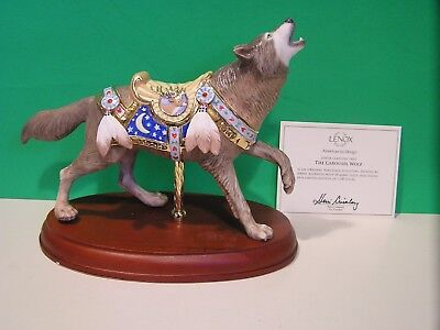 LENOX WOLF CAROUSEL sculpture NEW in BOX with COA horse